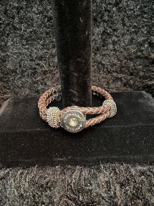 Bracelet en cuire brun