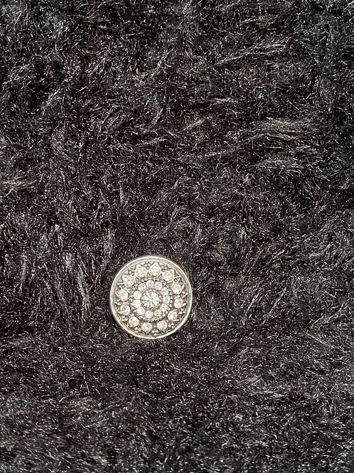 Snap button avec diamant en mandela