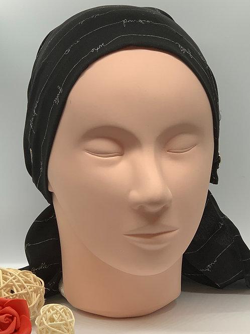 Foulard à élastique (Noir)