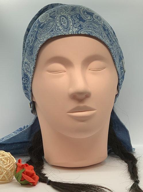 Foulard à élastique (Bleu jeans)