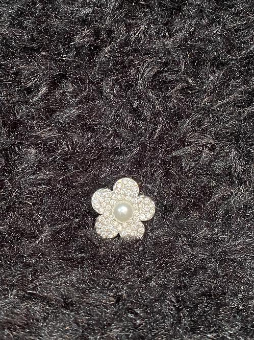 Snap button fleur en diamant