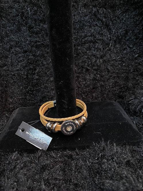 Bracelet cuir brun pâle