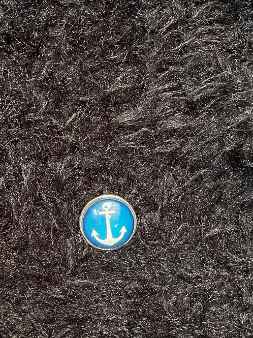 Snap button avec encre  (bleu)