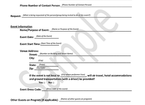 General Booking Form