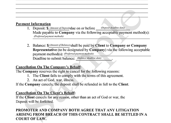 General Contract Agreement Template