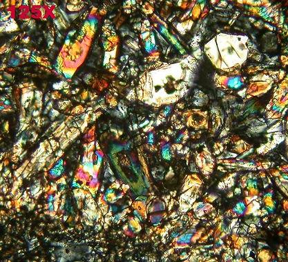 mars meteorite ipact rock thin section 4