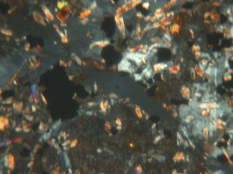 impact rock martian melt vein thin section 2