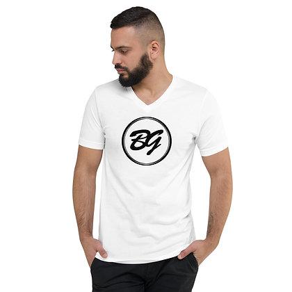 Mens & Women's Short Sleeve V-Neck T-Shirt - White