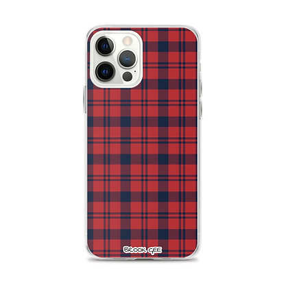 Brook Gee iPhone Case - Red and Blue Plaid
