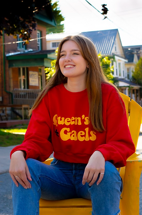 Cropped Red Crewneck   Queen's University