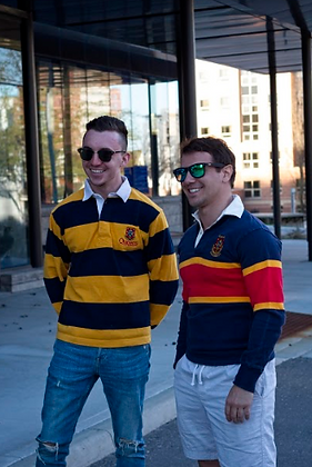 Queens Gold & Navy Rugby Sweater   Shop Lightly-Vintage