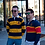 Thumbnail: Queens University Tri-Colour Rugby Sweater   Shop Lightly-Vintage