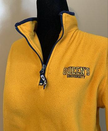 Queens University  | Used Yellow Fleece Sweater - XS | Shop Lightly-Vintage