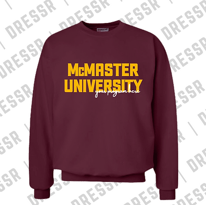 McMaster University   Your Program Here