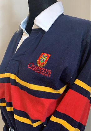 Queens University  | Tri-Colour Rugby Sweater - XS | Shop Lightly-Vintage
