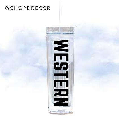 Skinny Water Tumbler - Western