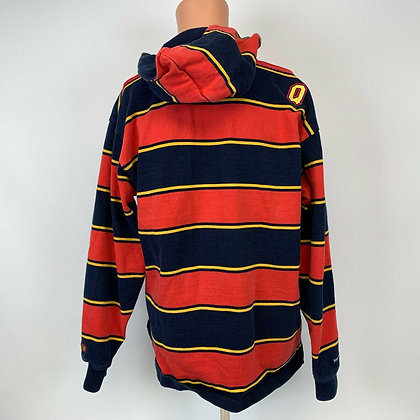 Vintage Queens University - Hooded Rugby Shirt - Size Large