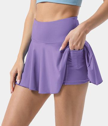 High Rise Tennis Skirt | Light Purple