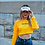 Thumbnail: Backless Yellow Cropped Long Sleeve | Queen's University
