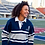 Thumbnail: University of Toronto | Gray & Navy Rugby Sweater | Size Small