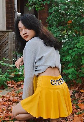 High Rise Yellow Tennis Skirt   Queen's University