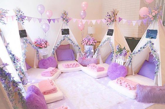 How to: Create an Epic Sleepover at Home (Purple and Pink)
