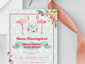 Time to Flamingle: Sharan's Bridal Shower
