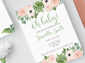 Oh Baby! Invitation + Shower Games