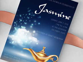 Aladdin Inspired Invitation