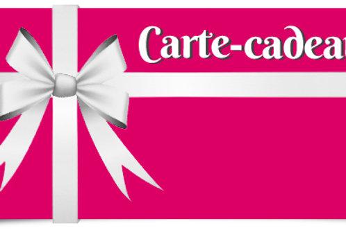 Carte cadeau de 55€ à 150€