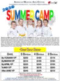 2020 Summer Break Camp Registration Pack