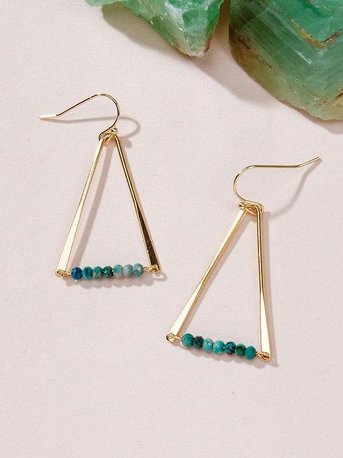 Triangle Chrysocolla Earrings