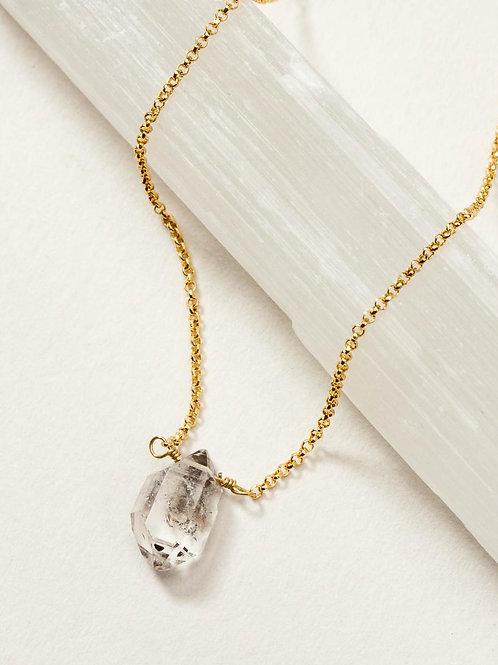 Herkimer Quartz Dainty Necklace