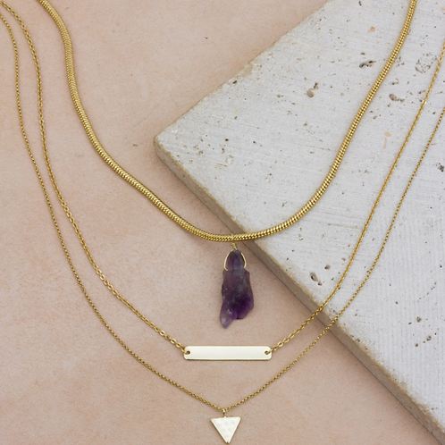 Amethyst Necklace Set