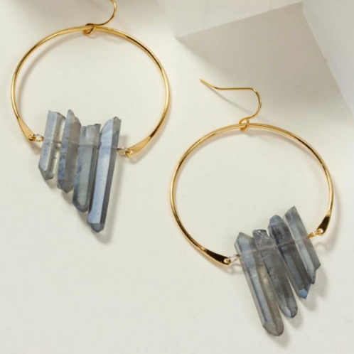Super Nova Quartz Earring (Blue)