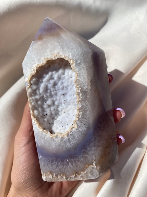 Agate with Druzy