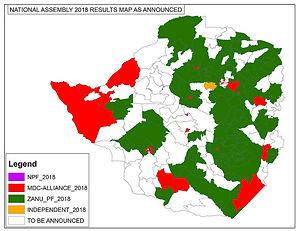 Map Election results Nat Assembly ECR 2