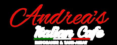 Andrea's Italian Cafe Logo 2019  White a