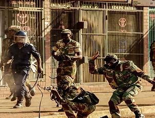Protest action soldier fires shot AFP Ge