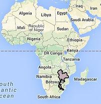 Map of Thailand superimposed Africa 29 M