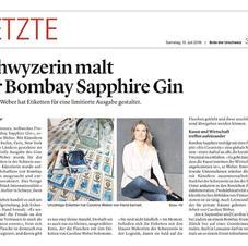 Caroline Weber creats labels for Bombay Gin
