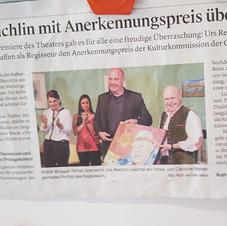 Recognition Award Urs Reichlin