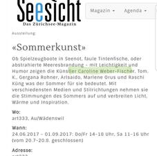 Sommerkunst Group Exhibition Zurich
