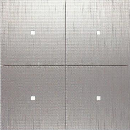 Drukknop Tense Intensity 4-voudig Aluminium