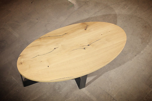 """TABLE DE SALON Ovale en Chêne """"Coeur de Grume de Venise"""""""