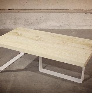 TABLE DE SALON en chêne Coeur de Grume de Venise  Blanchi