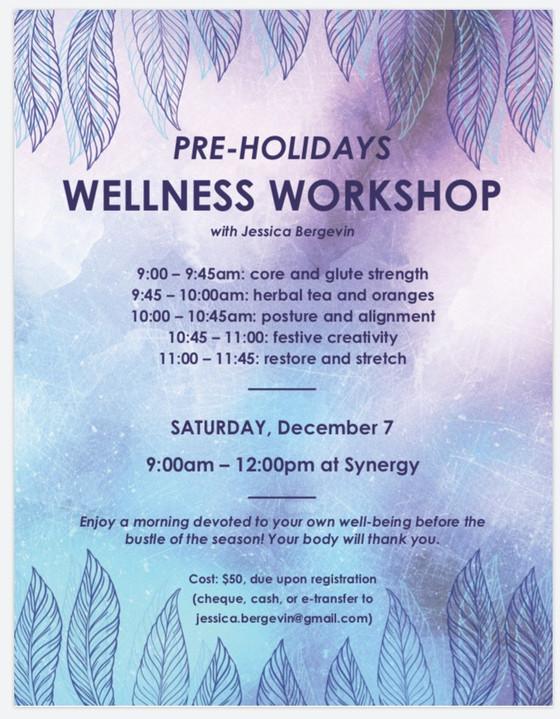 Pre-Holiday Wellness Workshop