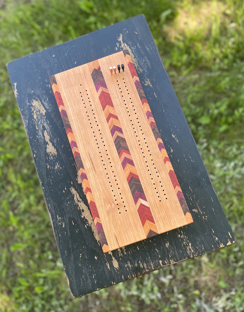 Chevron Cribbage Board