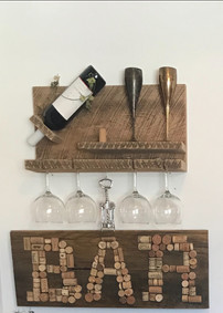 Barnwood wine rack