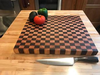 Walnut + Cherry End-Grain Large Board